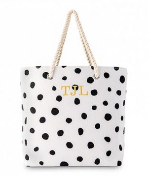 Personalized Dalmatian Dot Tote
