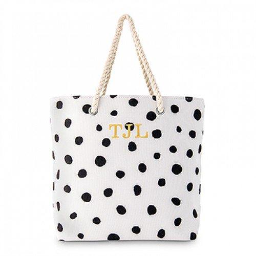 Personalized Dalmatian Dot Tote