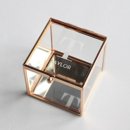 Personalized Etched Glass Jewelry Box