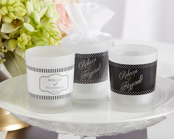 Personalized Frosted Glass Votive - Classic