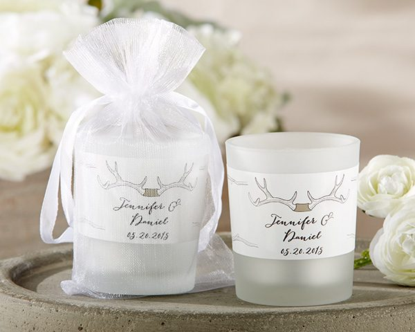 Personalized Frosted Glass Votive - The Hunt Is Over