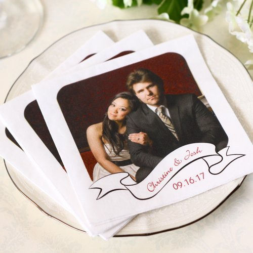 Personalized Full Color Bridal Napkins