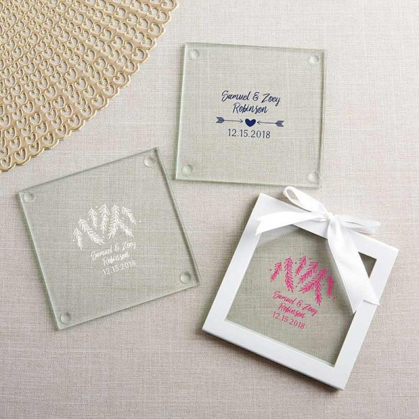 Personalized Glass Coaster - Winter (Set of 12)
