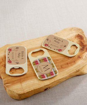 Personalized Gold Bottle Opener - Fall