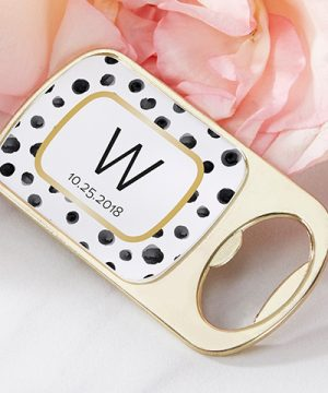 Personalized Gold Bottle Opener - Modern Classic