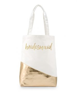 Personalized Gold Canvas Shopper Tote