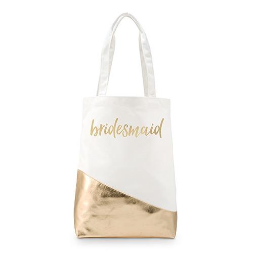 Personalized Gold Canvas Shopper Tote