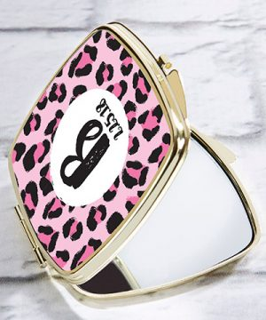Personalized Gold Compact - Monogram