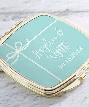Personalized Gold Compact - Something Blue