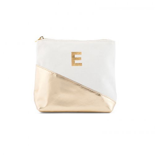 Personalized Gold Metallic Zip Pouch