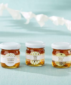 Personalized Honey Jar - Gold Foil (Set of 12)