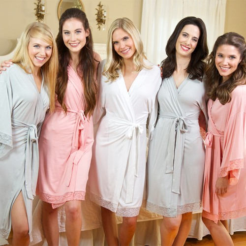 Personalized Jersey Lace Robes