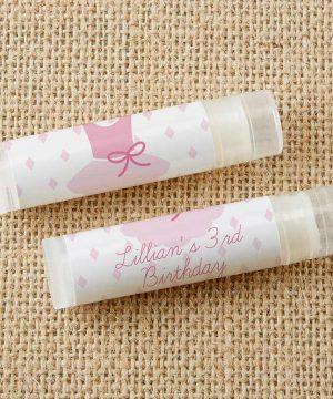 Personalized Lip Balm - Tutu Cute (Set of 12)