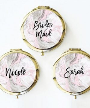 Personalized Marble Compacts