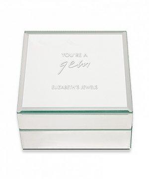 Personalized Mirrored Jewelry Box