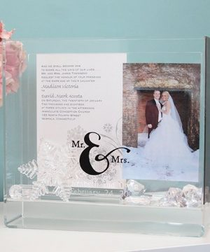 Personalized Mr. & Mrs. Box Frame