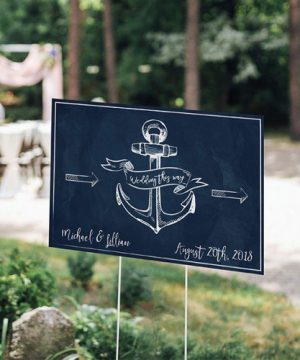Personalized Nautical Wedding Sign