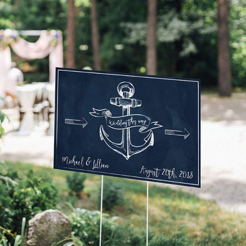 Personalized Nautical Wedding Sign