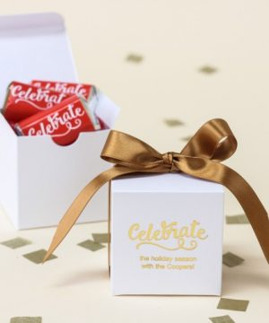 Personalized Party Square Favor Box