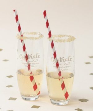 Personalized Party Stemless Champagne Flute