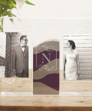 Personalized Photo Frame Sand Ceremony Shadow Box
