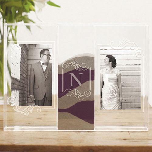 Personalized Photo Frame Sand Ceremony Shadow Box