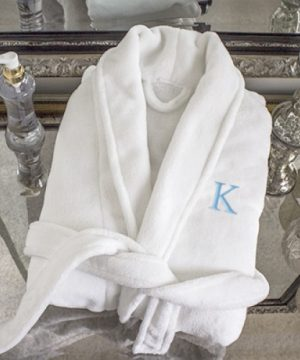 Personalized Plush Spa Robe