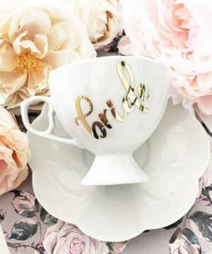 Personalized Porcelain Teacup