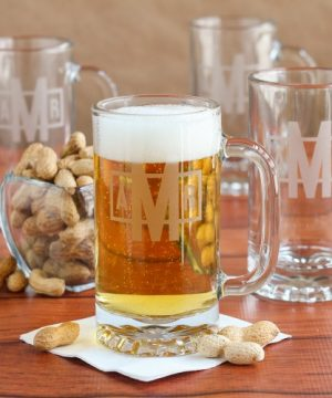 Personalized Pub Beer Mug Set