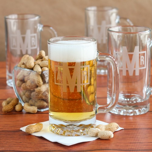 Personalized Pub Beer Mug Set