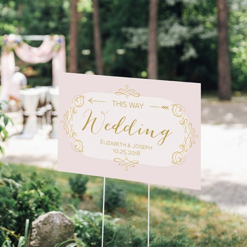 Personalized Romantic Wedding Sign