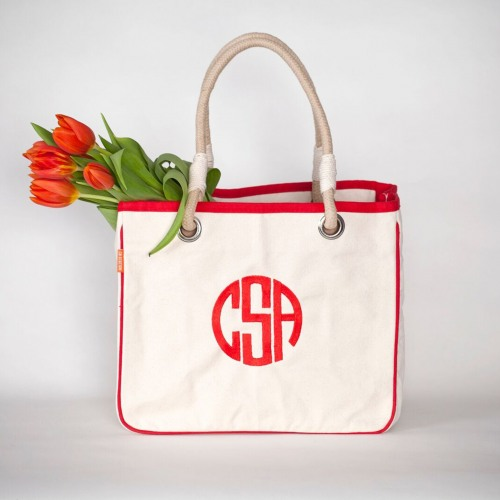Personalized Rope Tote