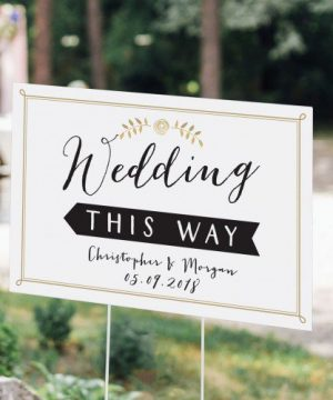 Personalized Script Wedding Sign