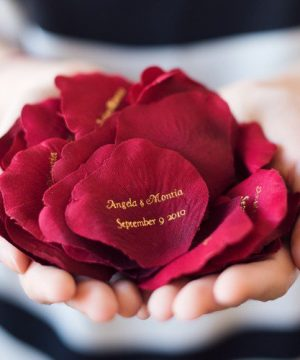 Personalized Silk Flower Petals
