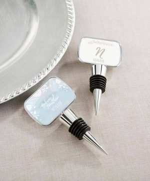 Personalized Silver Bottle Stopper - Ethereal