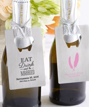 Personalized Silver Credit Card Bottle Opener - Wedding/Bridal