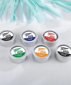 Personalized Silver Round Candy Tin - Finally! Class of 2018 (Set of 12)