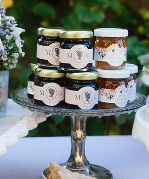 Personalized Strawberry Jam - English Garden (Set of 12)