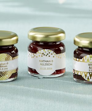 Personalized Strawberry Jam - Gold Foil (Set of 12)