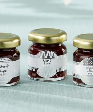 Personalized Strawberry Jam - Silver Foil (Set of 12)