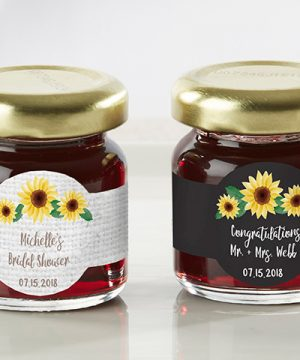 Personalized Strawberry Jam - Sunflower (Set of 12)