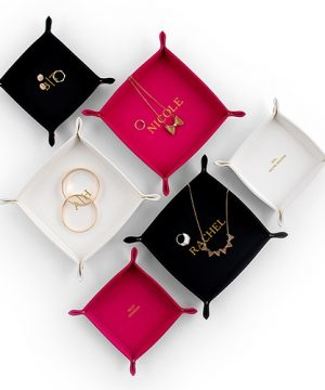 Personalized Vegan Leather Jewelry Tray