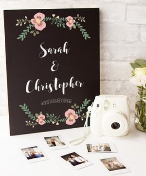 Personalized Wedding Chalkboard Sign