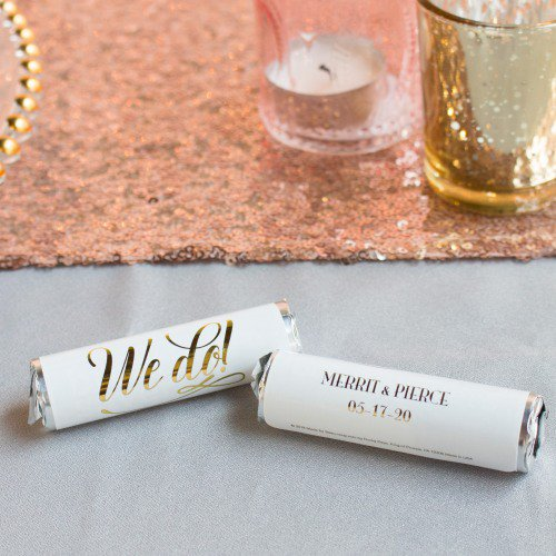 Personalized Wedding Mint Rolls