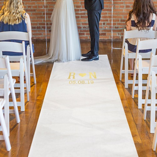 Personalized White Wedding Aisle Runner