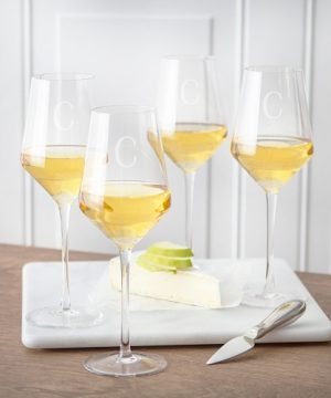 Personalized White Wine Estate Glasses