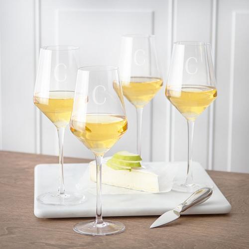 Personalized White Wine Estate Glasses