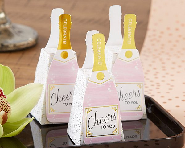 Pink Champagne Favor Box (Set of 12)
