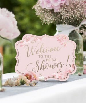 Pink & Gold Bridal Shower Signs