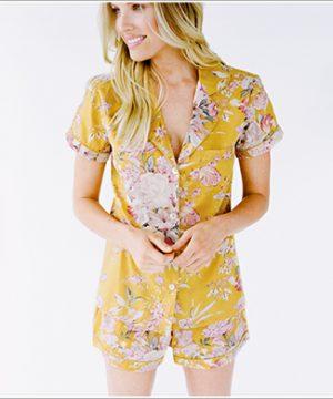 Pretty PJ Shirt. Marigold La Vie.